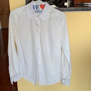 Tory Burch White Shirt with Lace Detail